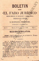 Boletin de el faro juridico;  año I, tomo 1 (April 30, 1883)