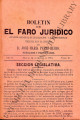 Boletin de el faro juridico;  año II, tomo II (March 31, 1884)