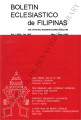 Boletín Eclesiástico de Filipinas ; Volume 74, number 806 (May-June 1998)