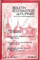 Boletin Eclesiastico de Filipinas ; Volume 54, numbers 606-607 (May-June 1980)