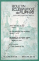 Boletin Eclesiastico de Filipinas ; Volume 55, numbers 616,617,618 (March, April, May 1981)