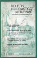 Boletin Eclesiastico de Filipinas ; Volume 55, numbers 623-624 (October-November 1981)