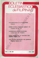 Boletin Eclesiastico de Filipinas ; Volume 50, number 560 (July 1976)