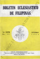 Boletin Eclesiastico de Filipinas ; Volume 38, number 431 (September 1964)