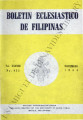Boletin Eclesiastico de Filipinas ; Volume 38, number 433 (November 1964)