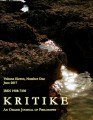 Kritike : An Online Journal of Philosophy ; volume  11, number 0001 (June 2017)