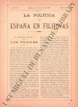 La Política de España en Filipinas ; Volume 7, number 166 (July 31, 1897)