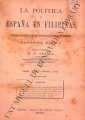 La Política de España en Filipinas ; Volume 8, number 178 (January 31, 1898)