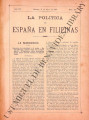 La Política de España en Filipinas ; Volume 7, number 162 (May 31, 1897)