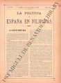 La Política de España en Filipinas ; Volume 7, number 169 (September 15, 1897)