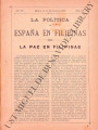 La Política de España en Filipinas ; Volume 7, number 176 (December 31, 1897)