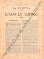 La Política de España en Filipinas ; Volume 7, number 160 (April 30, 1897)