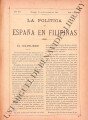 La Política de España en Filipinas ; Volume 7, number 173 (November 15, 1897)