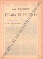 La Política de España en Filipinas ; Volume 7, number 168 (August 31, 1897)
