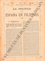 La Política de España en Filipinas ; Volume 7, number 161 (May 15, 1897)