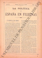 La Política de España en Filipinas ; Volume 7, number 164 (June 30, 1897)