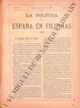 La Política de España en Filipinas ; Volume 7, number 163 (June 15, 1897)