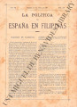 La Política de España en Filipinas ; Volume 7, number 159 (April 15, 1897)