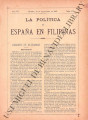 La Política de España en Filipinas ; Volume 7, number 170 (September 30, 1897)