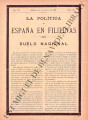 La Política de España en Filipinas ; Volume 7, number 167 (August 15, 1897)