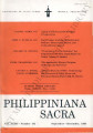 Philippiniana Sacra ; Volume 34, number 0102 (September - December 1999)