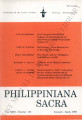 Philippiniana Sacra ; Volume 35, number 0103 (January - April 2000)