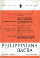 Philippiniana Sacra ; Volume 32, number 0095 (May - August 1997)