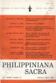 Philippiniana Sacra ; Volume 33, number 0097 (January - April 1998)