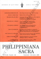 Philippiniana Sacra ; Volume 43, number 0129 (September - December 2008)