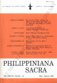 Philippiniana Sacra ; Volume 38, number 0113 (May - August 2003)