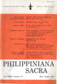 Philippiniana Sacra ; Volume 36, number 0107 (May - August 2001)