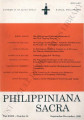 Philippiniana Sacra ; Volume 27, number 0081 (September - December 1992)