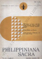 Philippiniana Sacra ; Volume 20, number 0060 (September - December 1985)