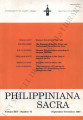 Philippiniana Sacra ; Volume 25, number 0075 (September - December 1990)
