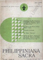 Philippiniana Sacra ; Volume 21, number 0063 (September - December 1986)