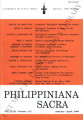 Philippiniana Sacra ; Volume 43, number 0127 (January - April 2008)