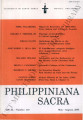 Philippiniana Sacra ; Volume 40, number 0119 (May - August 2005)