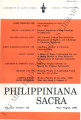 Philippiniana Sacra ; Volume 41, number 0122 (May - August 2006)