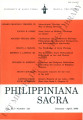 Philippiniana Sacra ; Volume 41, number 0121 (January - April 2006)