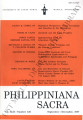 Philippiniana Sacra ; Volume 42, number 0126 (September - December 2007)
