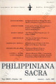 Philippiniana Sacra ; Volume 34, number 0100 (January - April 1999)