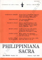Philippiniana Sacra ; Volume 38, number 0112 (January - April 2003)