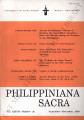 Philippiniana Sacra ; Volume 37, number 0111 (September - December 2002)