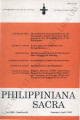 Philippiniana Sacra ; Volume 30, number 0088 (January - April 1995)