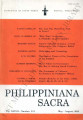 Philippiniana Sacra ; Volume 37, number 0110 (May - August 2002)
