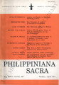 Philippiniana Sacra ; Volume 36, number 0106 (January - April 2001)