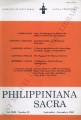 Philippiniana Sacra ; Volume 31, number 0093 (September - December 1996)