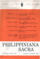 Philippiniana Sacra ; Volume 36, number 0108 (September - December 2001)