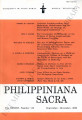 Philippiniana Sacra ; Volume 38, number 0114 (September - December 2003)