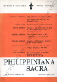 Philippiniana Sacra ; Volume 37, number 0109 (January - April 2002)
